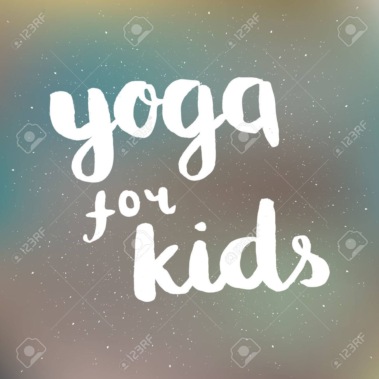 Poster With Quotes Lettering Yoga For Kids Fitness Typographic Motivational And Inspirational Illustration