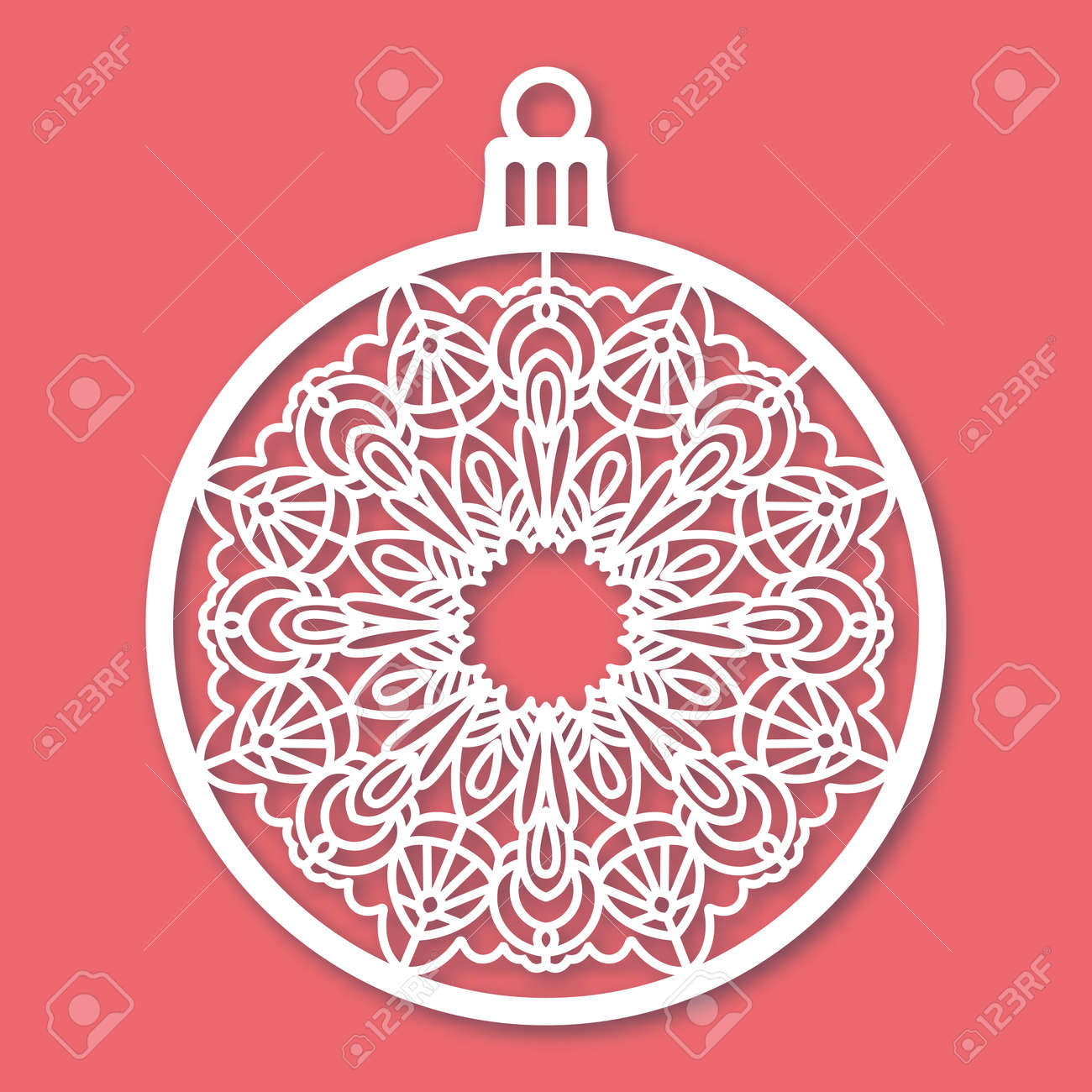 Christmas ball with snowflake laser cutting template for greeting christmas ball with snowflake laser cutting template for greeting cards envelopes invitations m4hsunfo