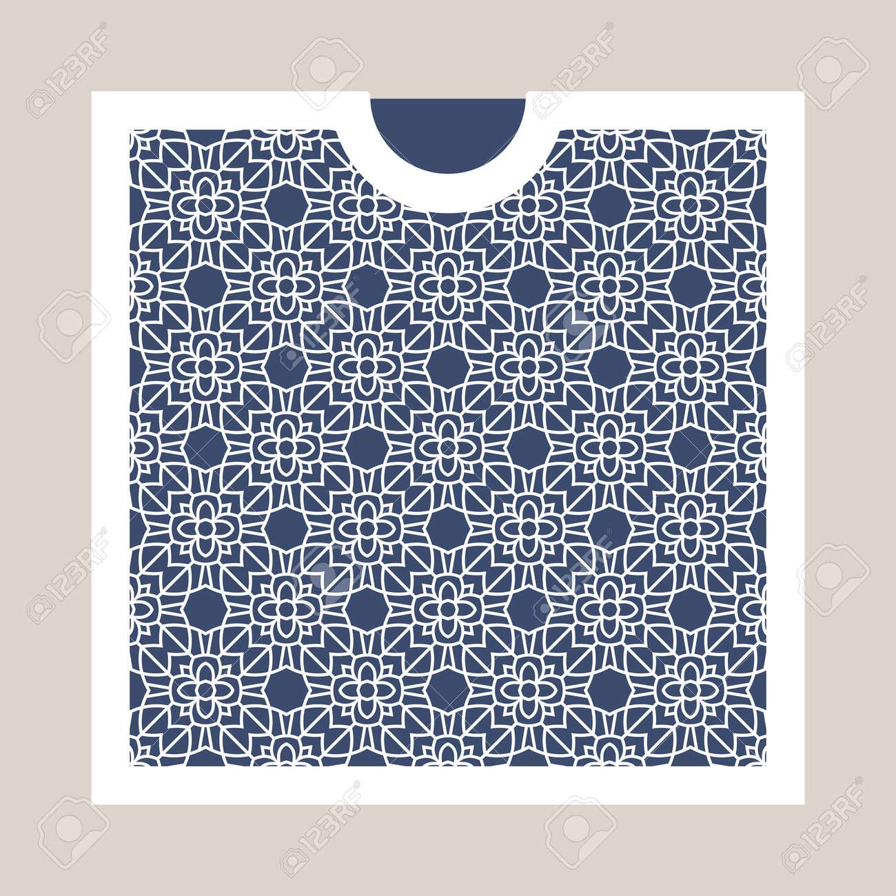 Umschlag Mit Geometrischen Muster. Schneiden Laser-Quadrat-Vorlage ...