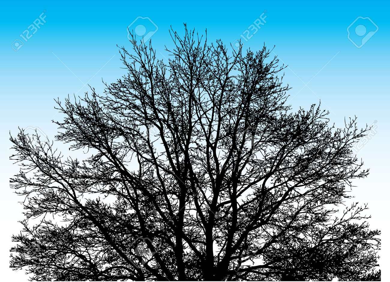 Big Vector Tree on the sky background Stock Vector - 4254343