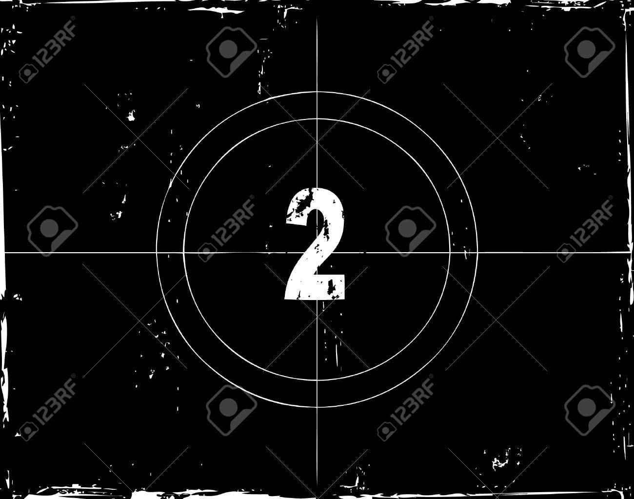 Retro film countdown vector illustration Stock Vector - 4254304
