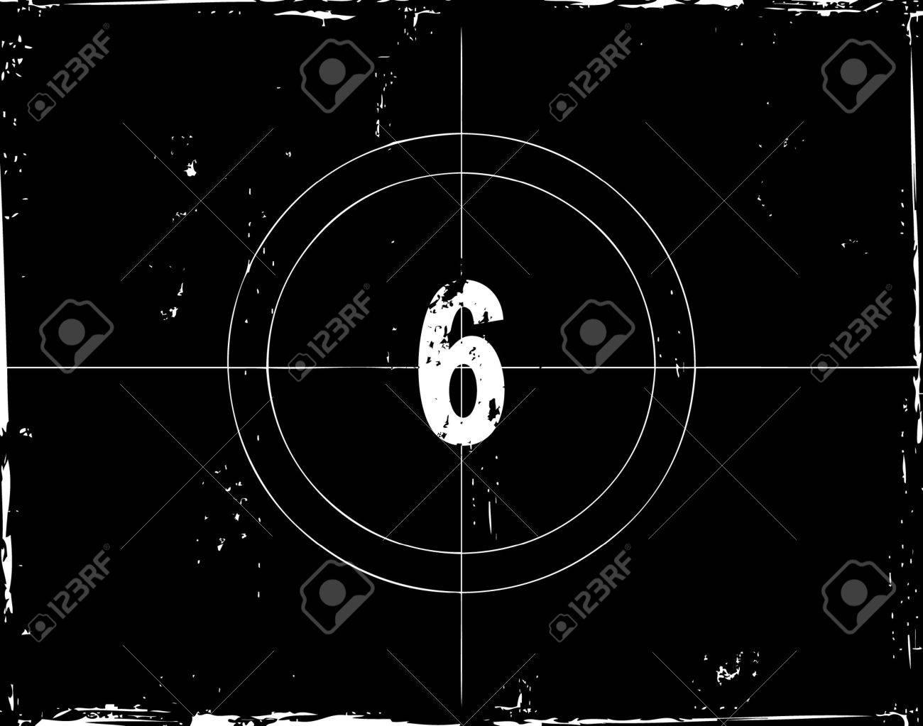 Retro film countdown vector illustration Stock Vector - 4254306