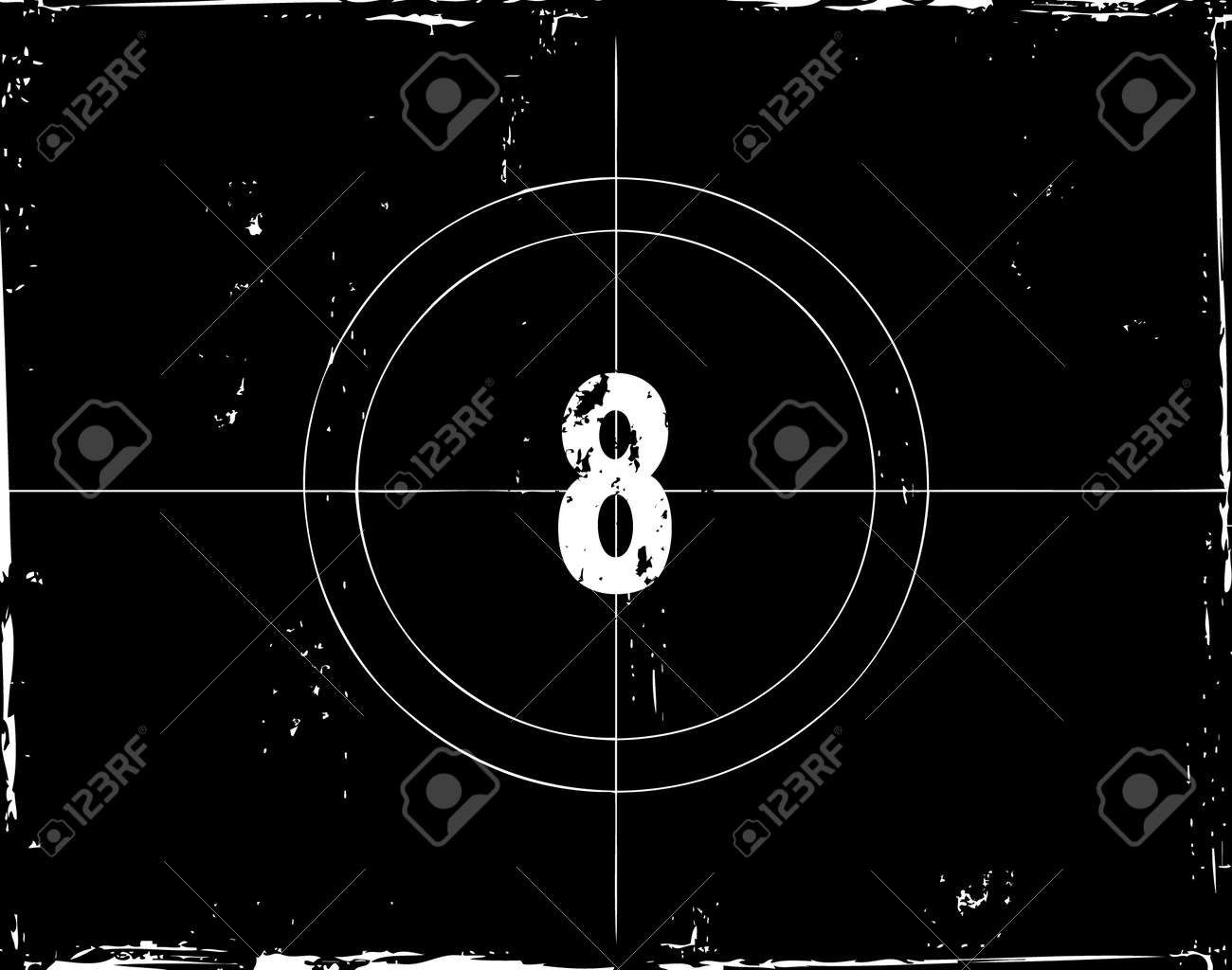 Retro film countdown vector illustration Stock Vector - 4254354