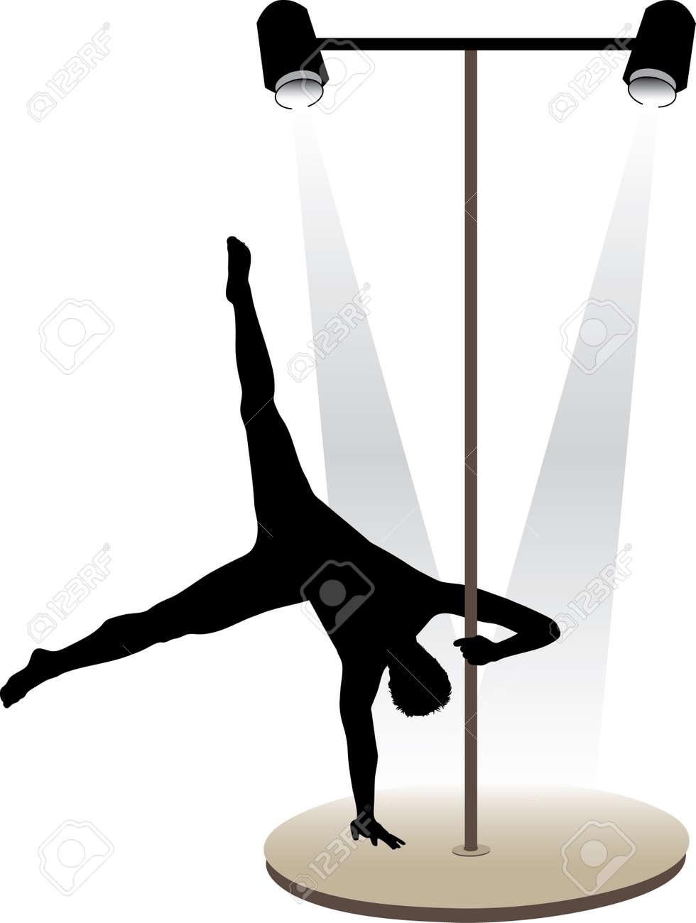 Night club striptease dancers vector illustration Stock Vector - 4271502