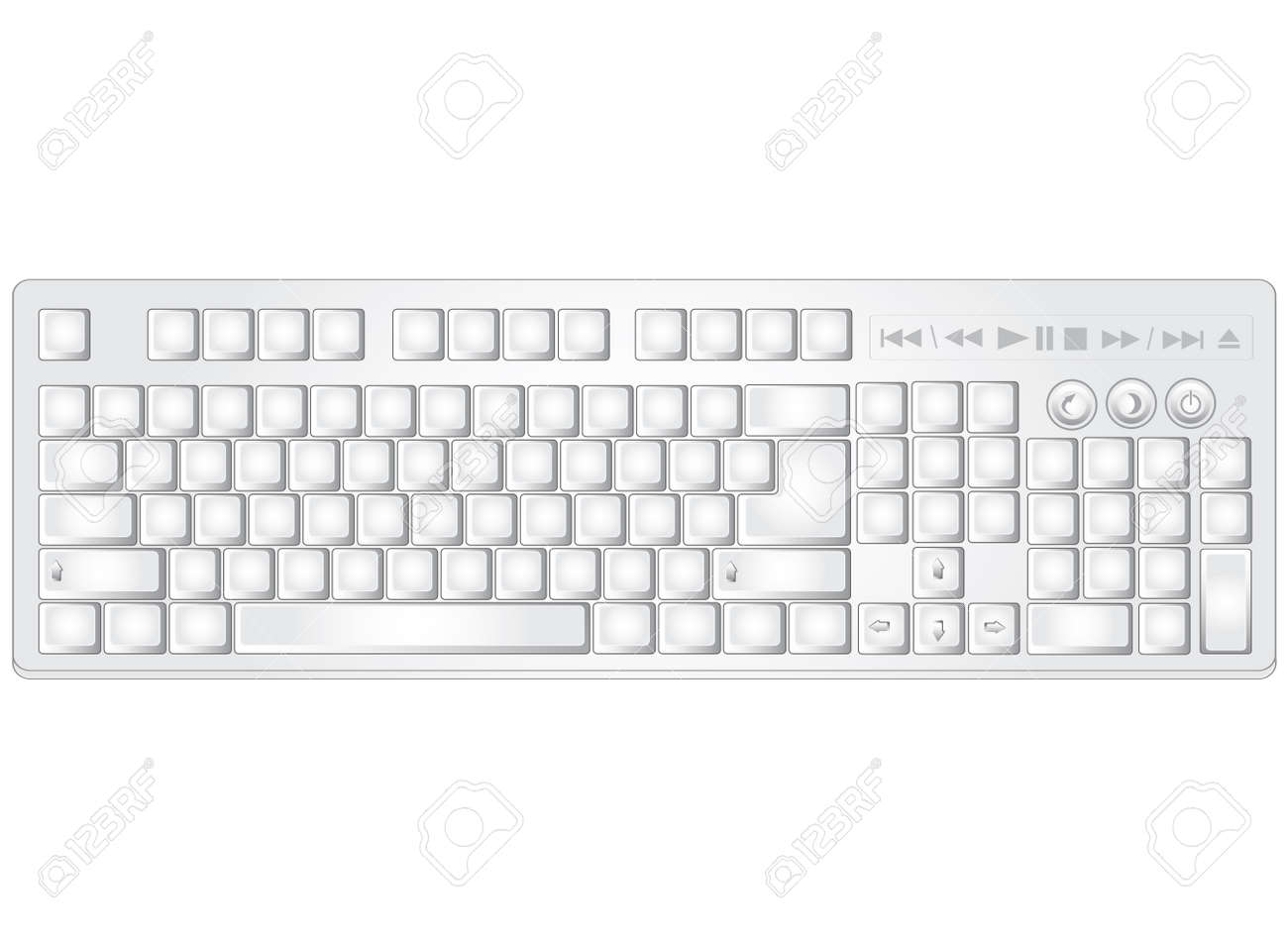 Symbols in computer keyboard image collections symbol and sign ideas white vector pc multimedia keyboard without text and symbols white vector pc multimedia keyboard without text buycottarizona Gallery