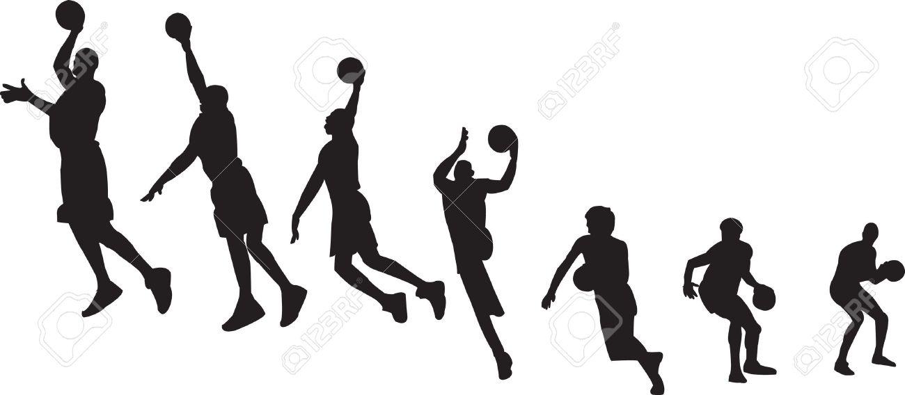 Basketball sequence silhouettes Stock Vector - 6788359