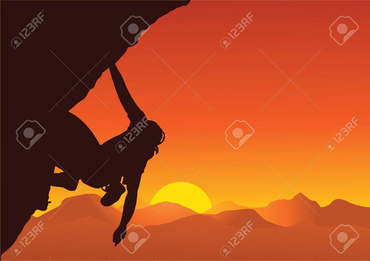 Rock Climber 3 Stock Vector - 6788355
