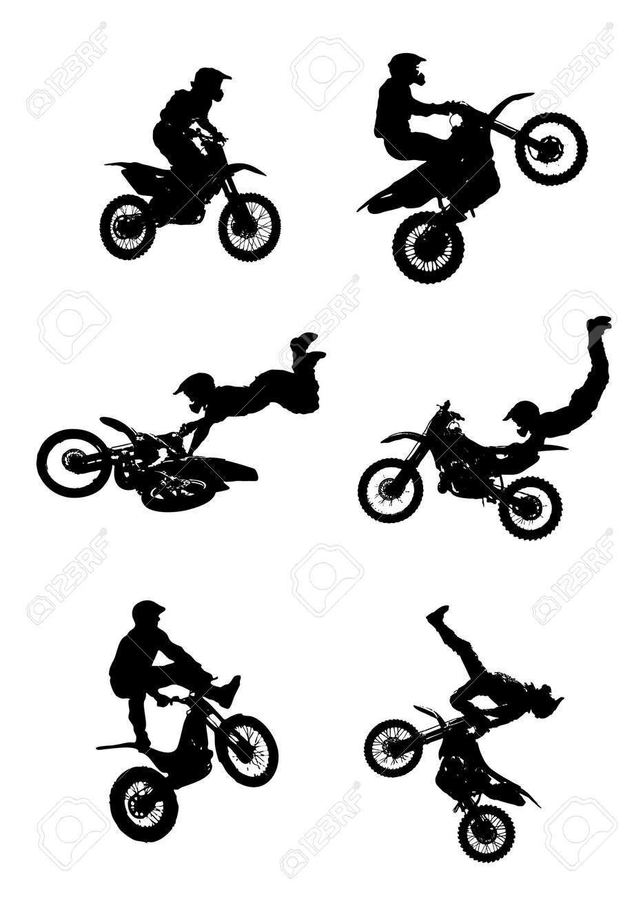 Jumping Motorcycle Stock Vector - 6874361