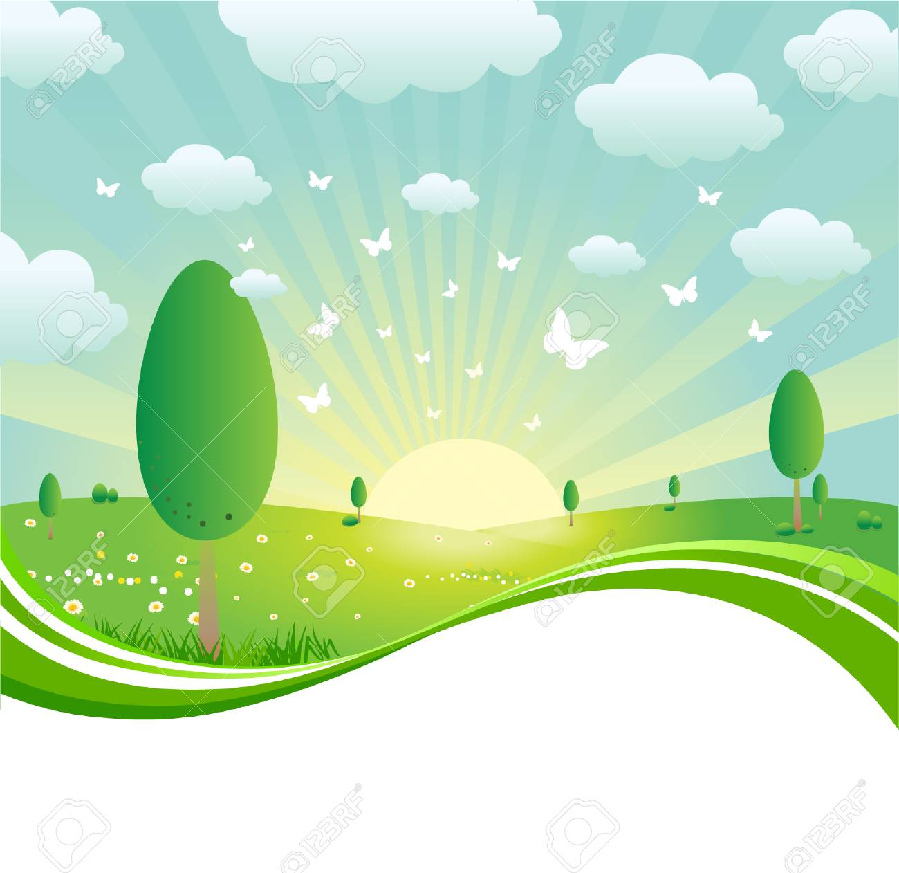 Spring Landscape Stock Vector - 7295065