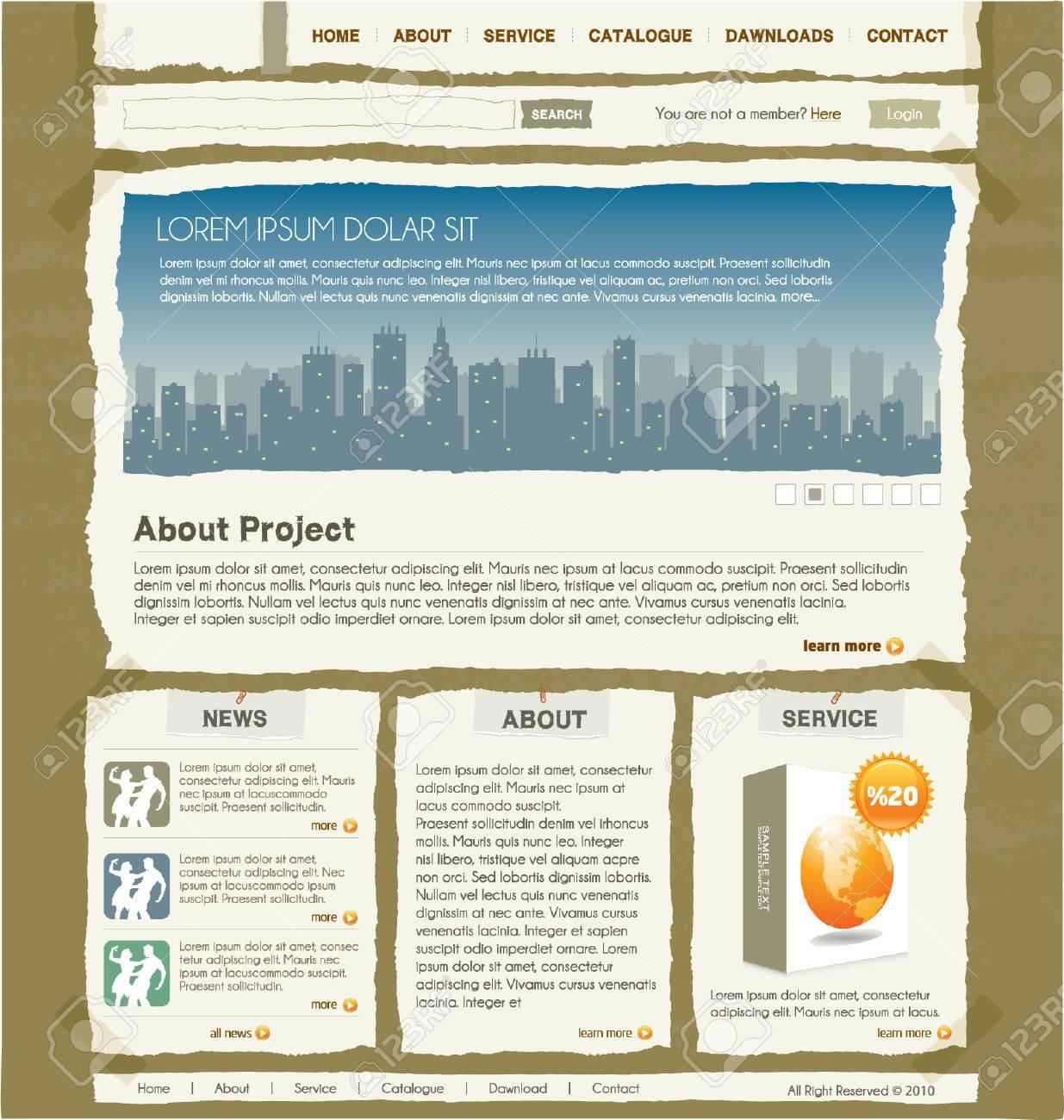 website design template 1 Stock Vector - 7295076