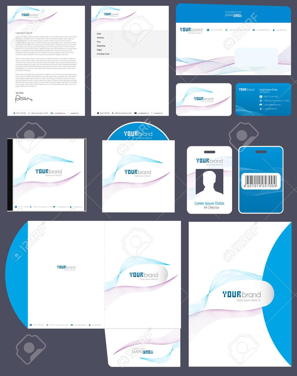 Corporate Identity Kit | Wave Pattern Stock Vector - 8487153