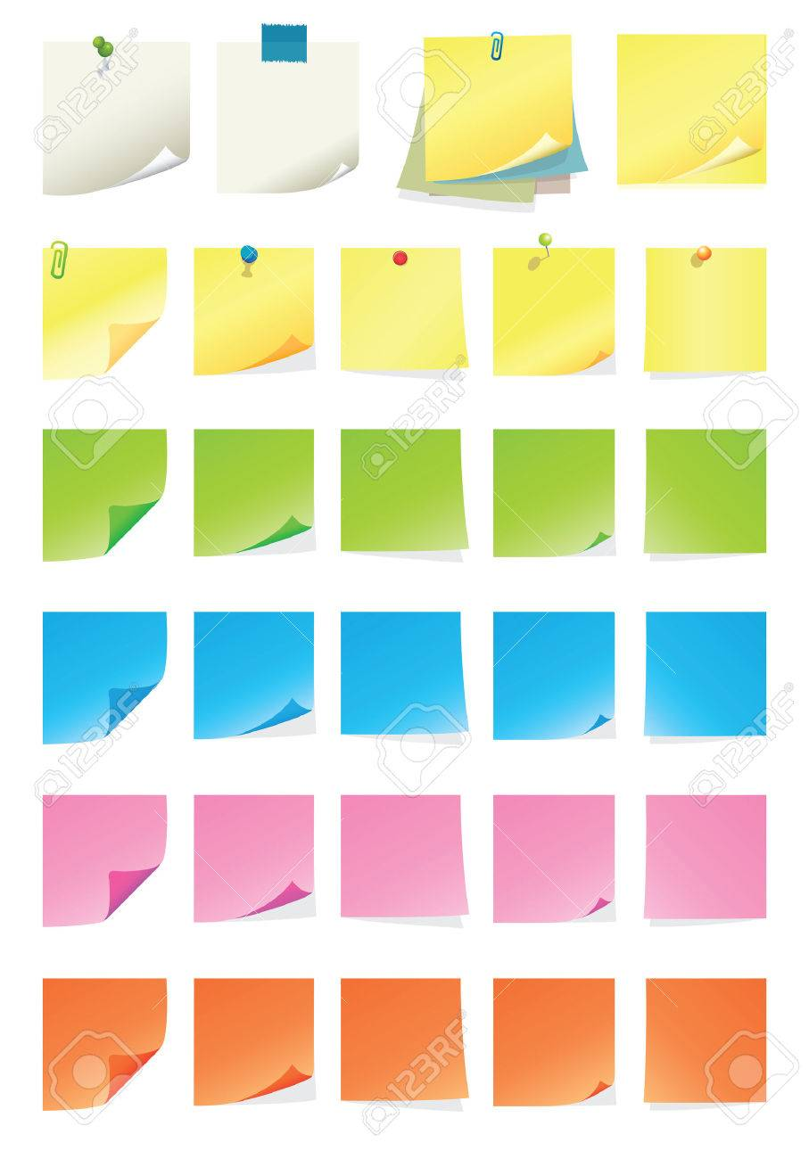 Post-it Collection Stock Vector - 8858508