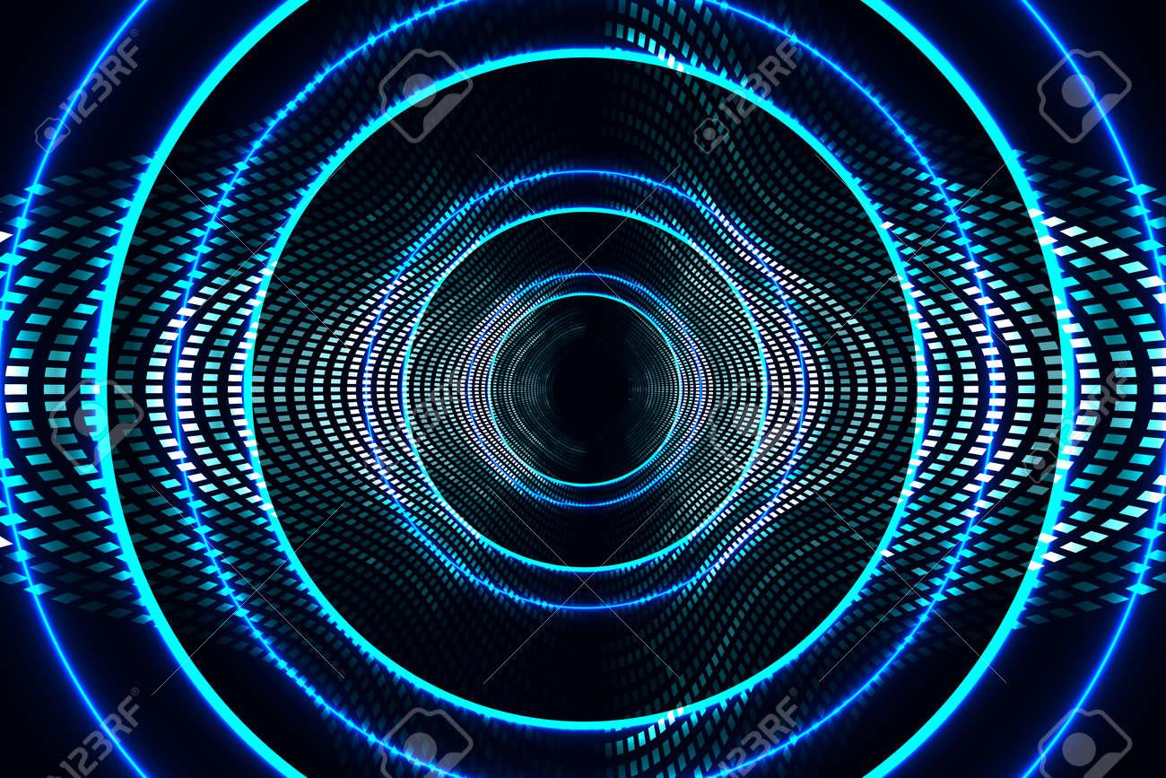 abstract technology background, radio waves illustration - 26028113