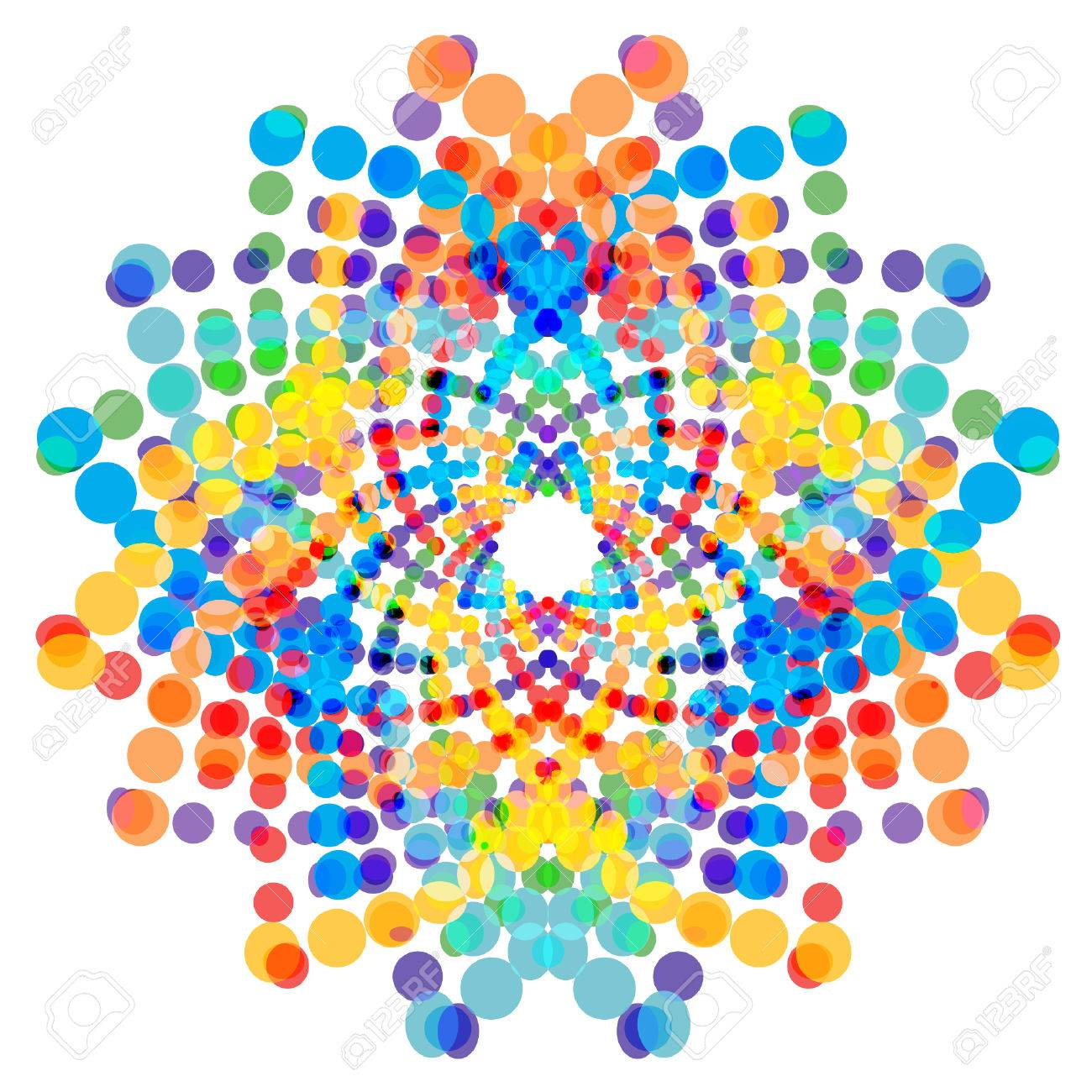 Colorful Abstract Shape Design Element