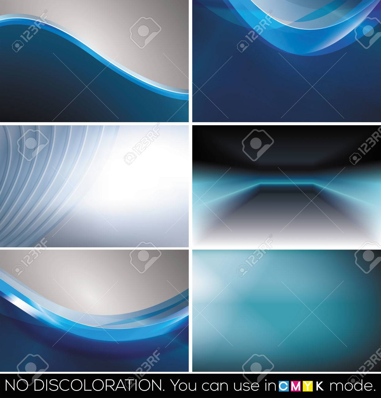Set Of Horizontal Business Cards, Abstract Backgrounds. (Raster ...