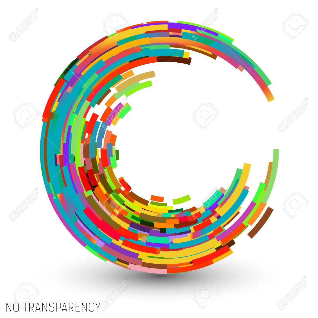 Colorful swirl icon, clip art, design element vector illustration - 46579492
