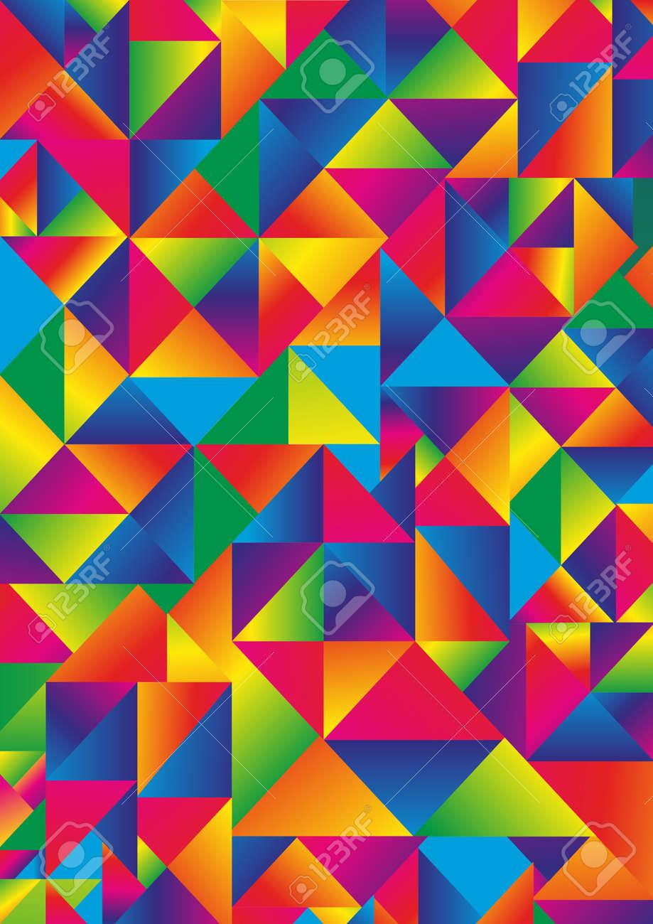 Resumen De Colores De Fondo De Formas Geométricas. Vertical Página ...
