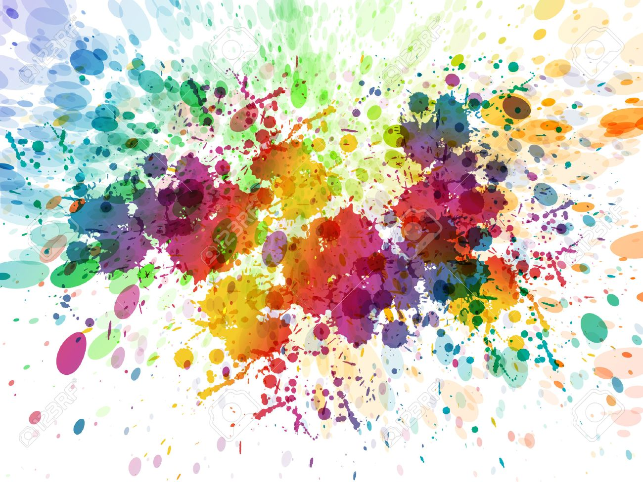 Abstract Color Splash Watercolor Background Illustration Royalty