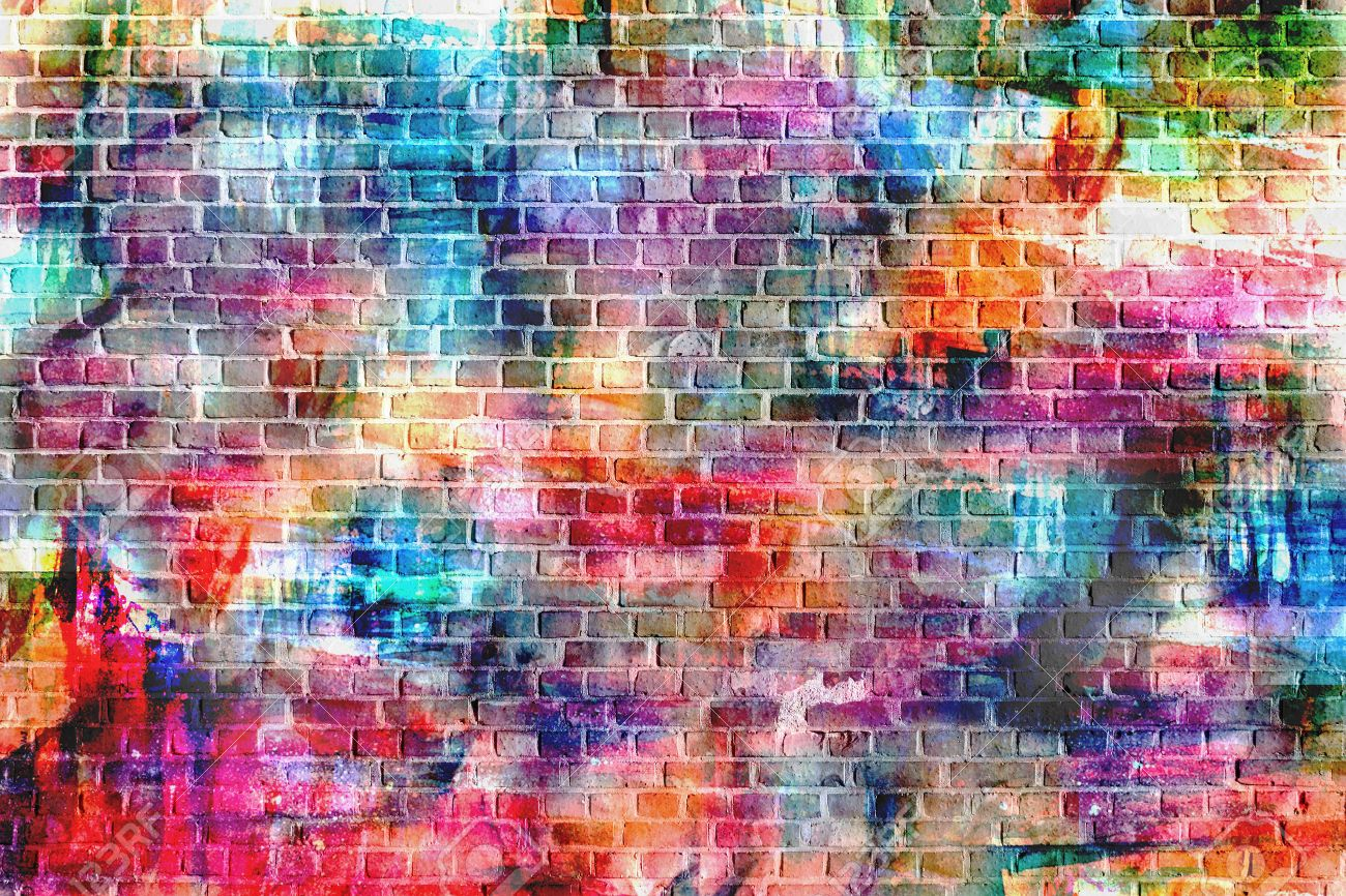 Colorful Wall Painting Art Inspirational Background Image