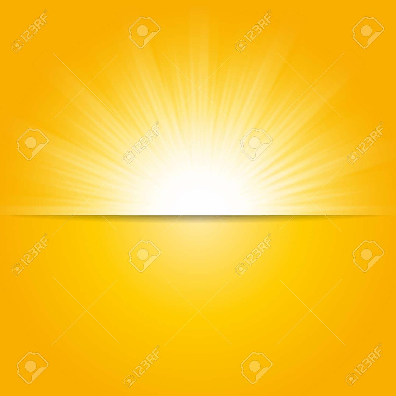 Shiny sun vector, sunbeams, sunrays background, banner design - 55416011