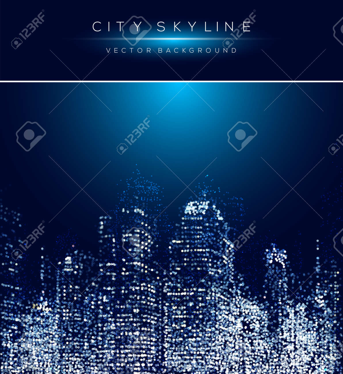 Modern city life abstract background design with dotted design concept. - 59435434