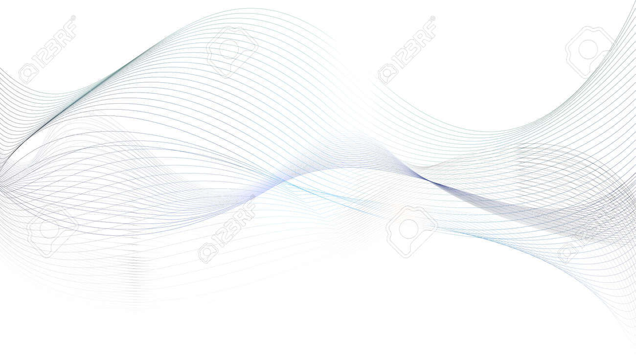 Abstract grey wavy lines background - 59436323