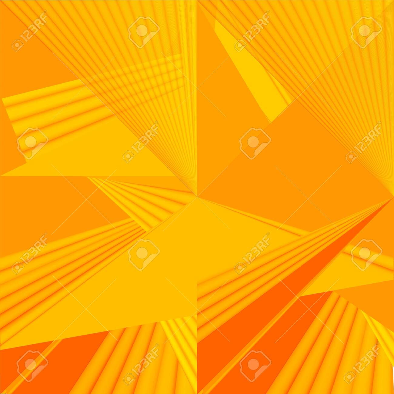 Soft Yellow Orange Color Toned 3d Minimal Concept Abstract