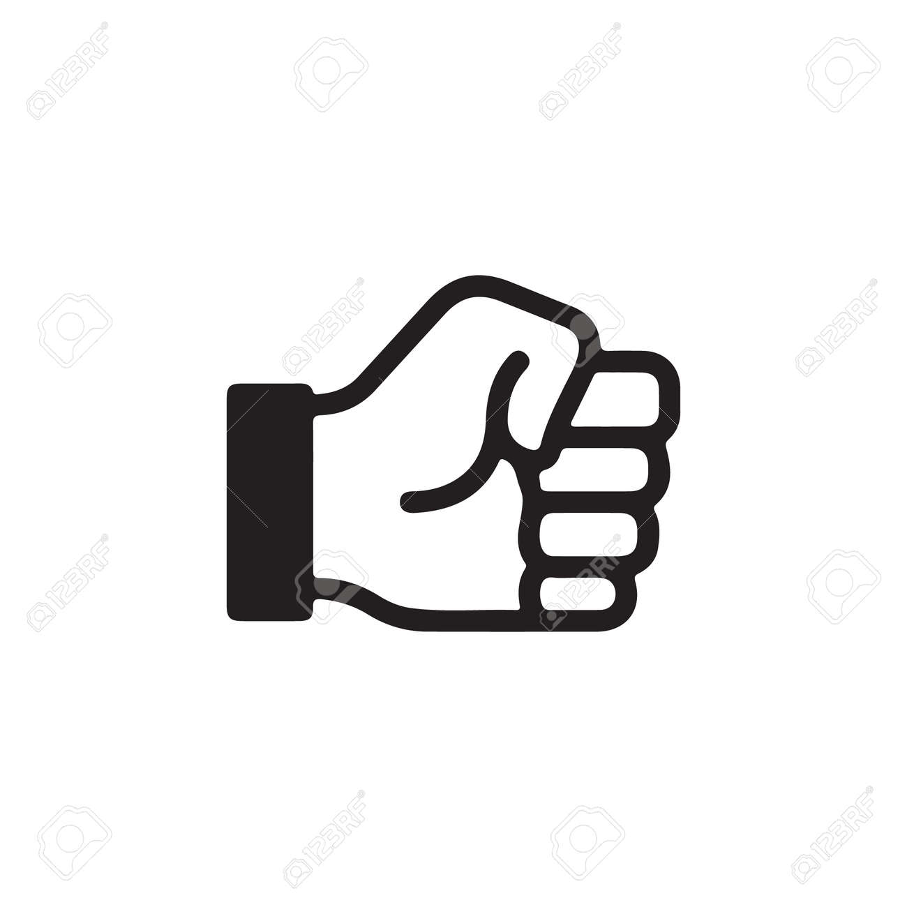 Raised Fist, Hold Gesture, Holding on Gestures of Human Hand Icon In Trendy Design Vector Eps 10 - 148574473