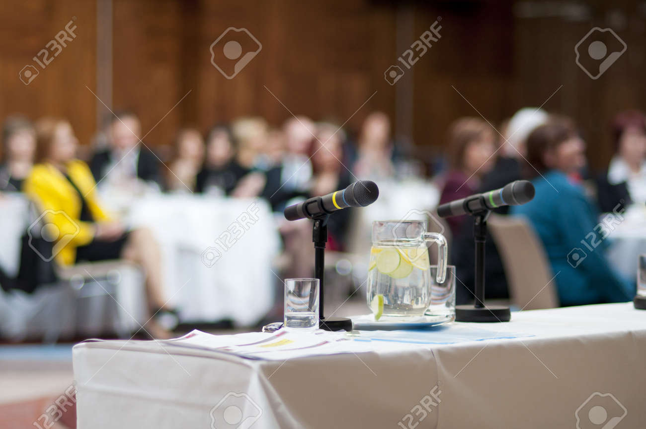 Indoor business conference for managers. Stock Photo - 16408365