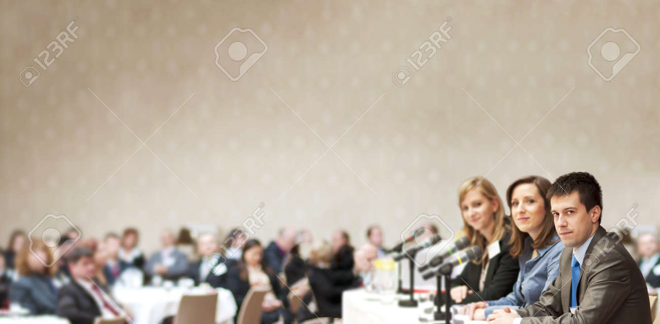 Indoor business conference for managers. Stock Photo - 16334669