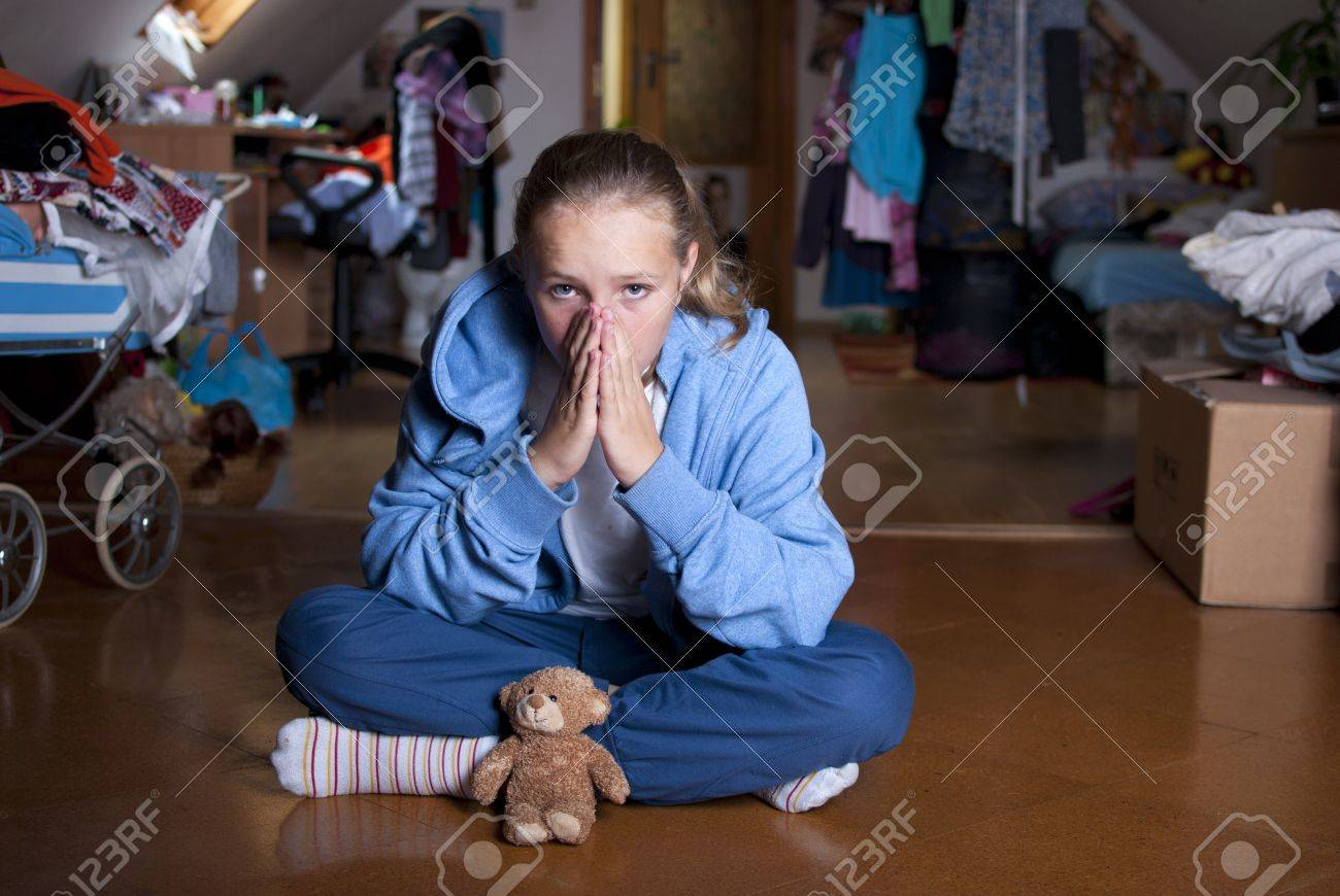 Sad teenager is in depression Stock Photo - 18608520