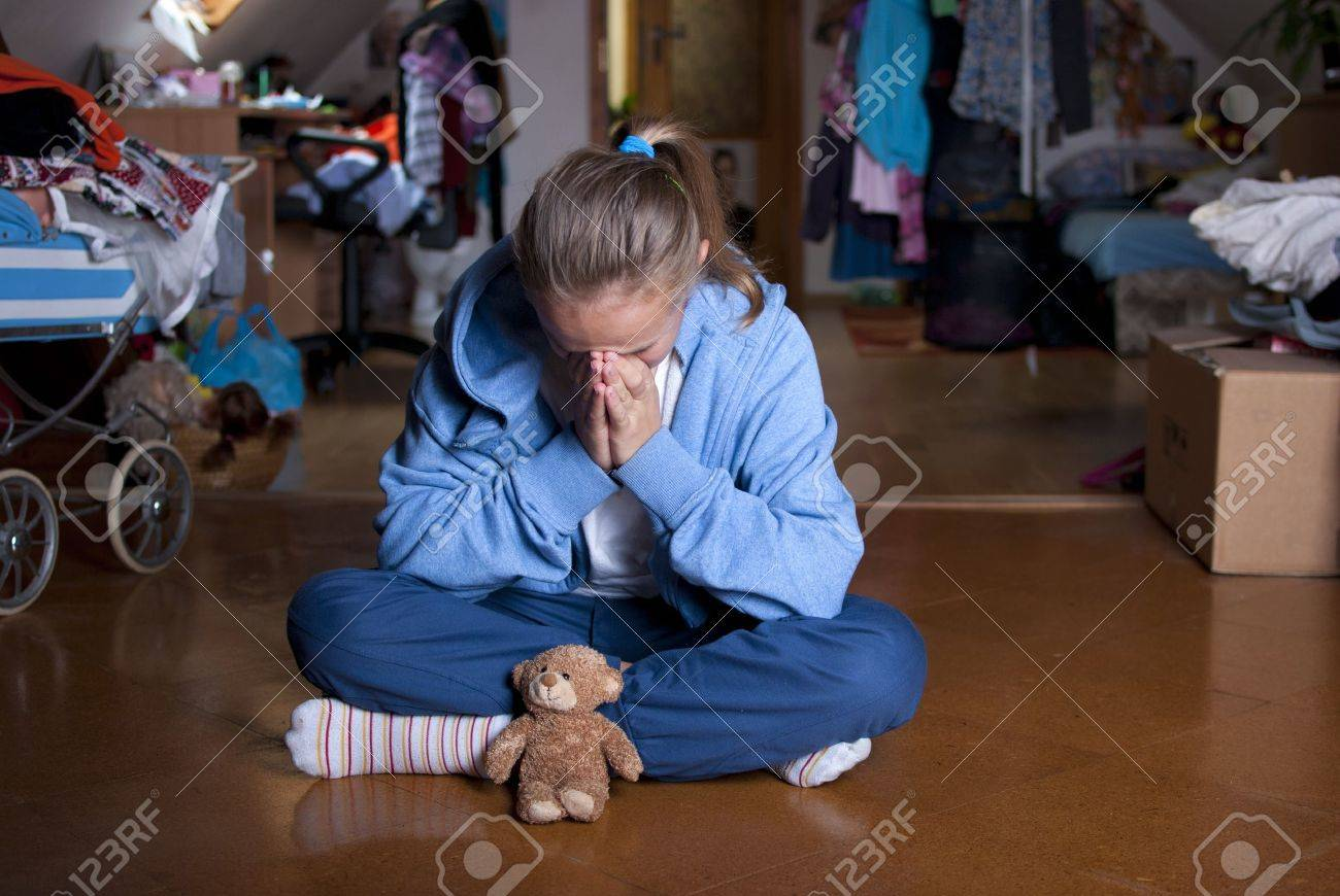 Sad teenager is in depression Stock Photo - 18608521