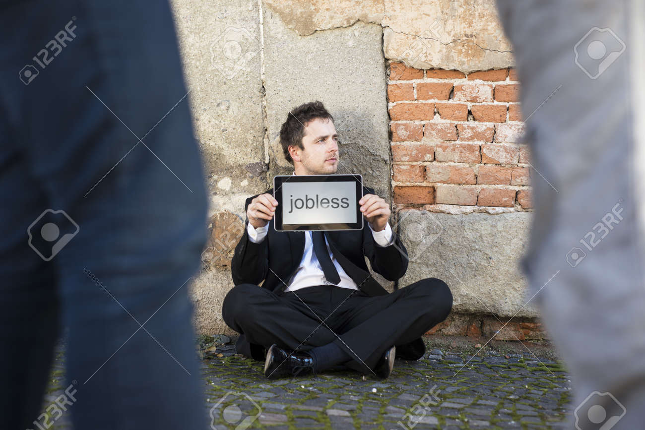 Jobless manager is on the street. Stock Photo - 16436967