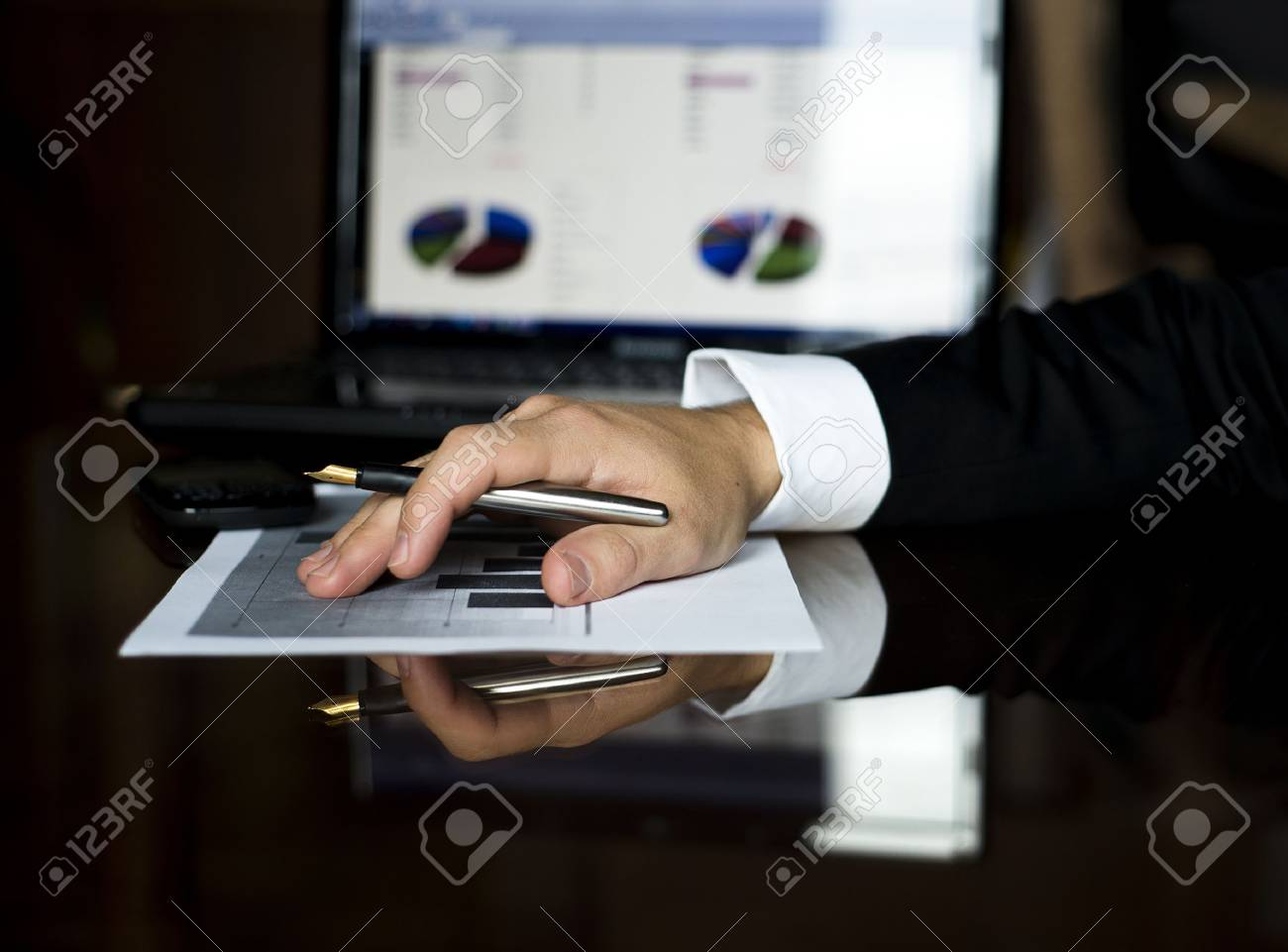 Bussinesman is signing contract for the next year Stock Photo - 16873845