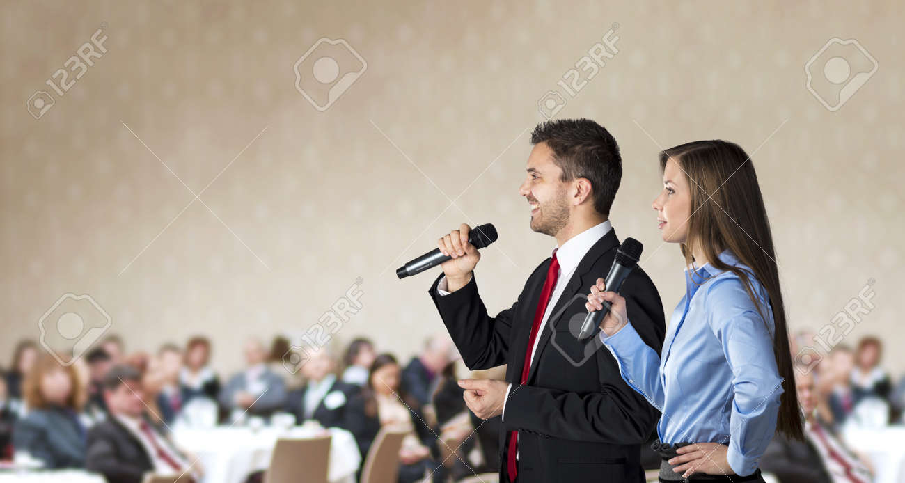 Indoor business conference for managers in hotel Stock Photo - 17289479