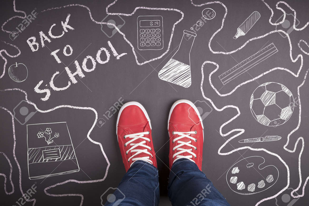 Creative concept with Back to school theme Stock Photo - 20935138