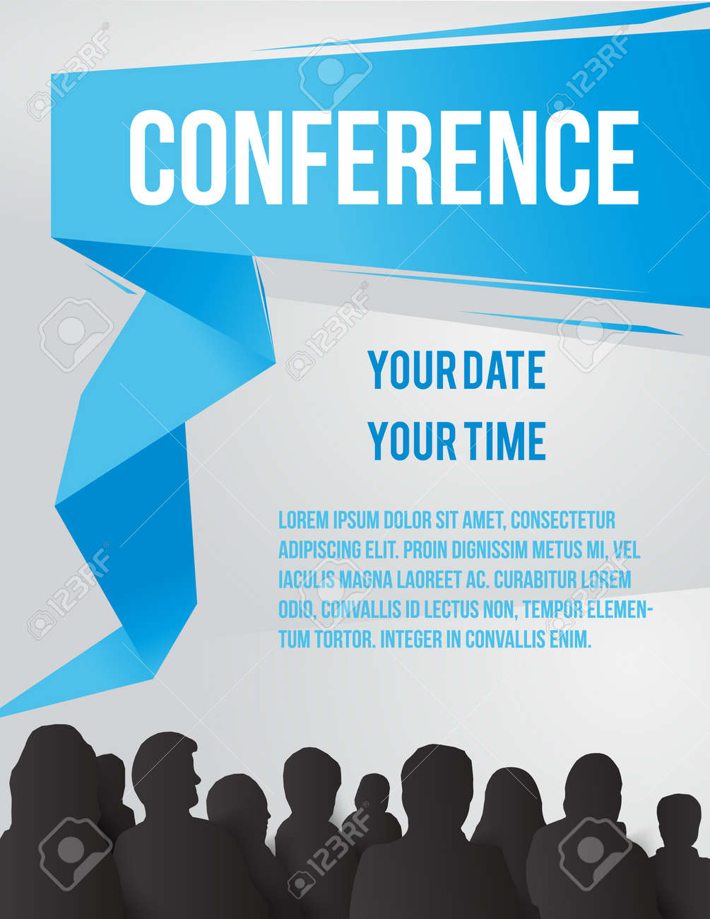 Conference tamplate illustration with space for your texts Stock Vector - 21724756