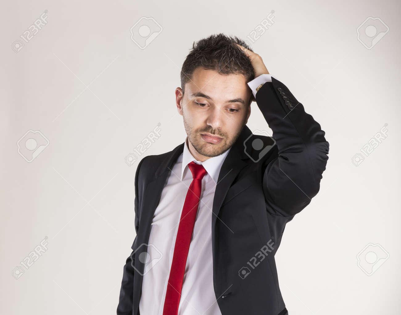 Successful business man is posing in studio Stock Photo - 22567498