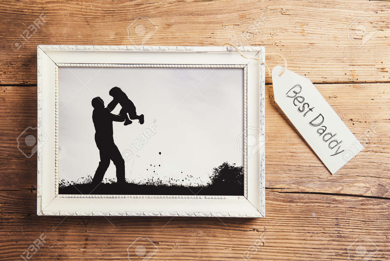 Padres Composición Días - Marco De Imagen Con Una Foto En Blanco Y ...