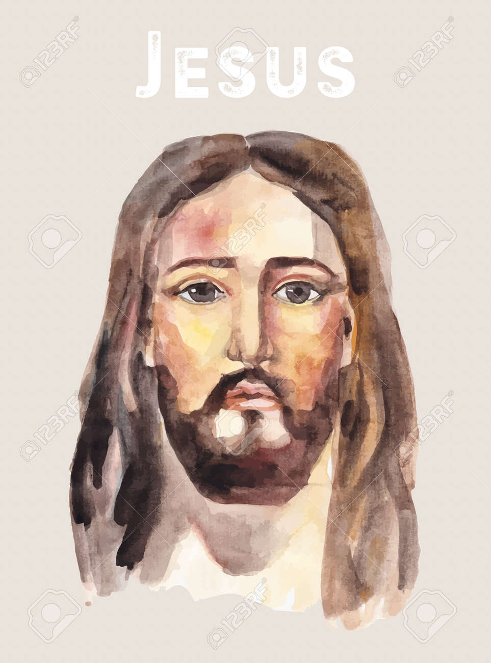 465 jesus head stock vector illustration and royalty free jesus