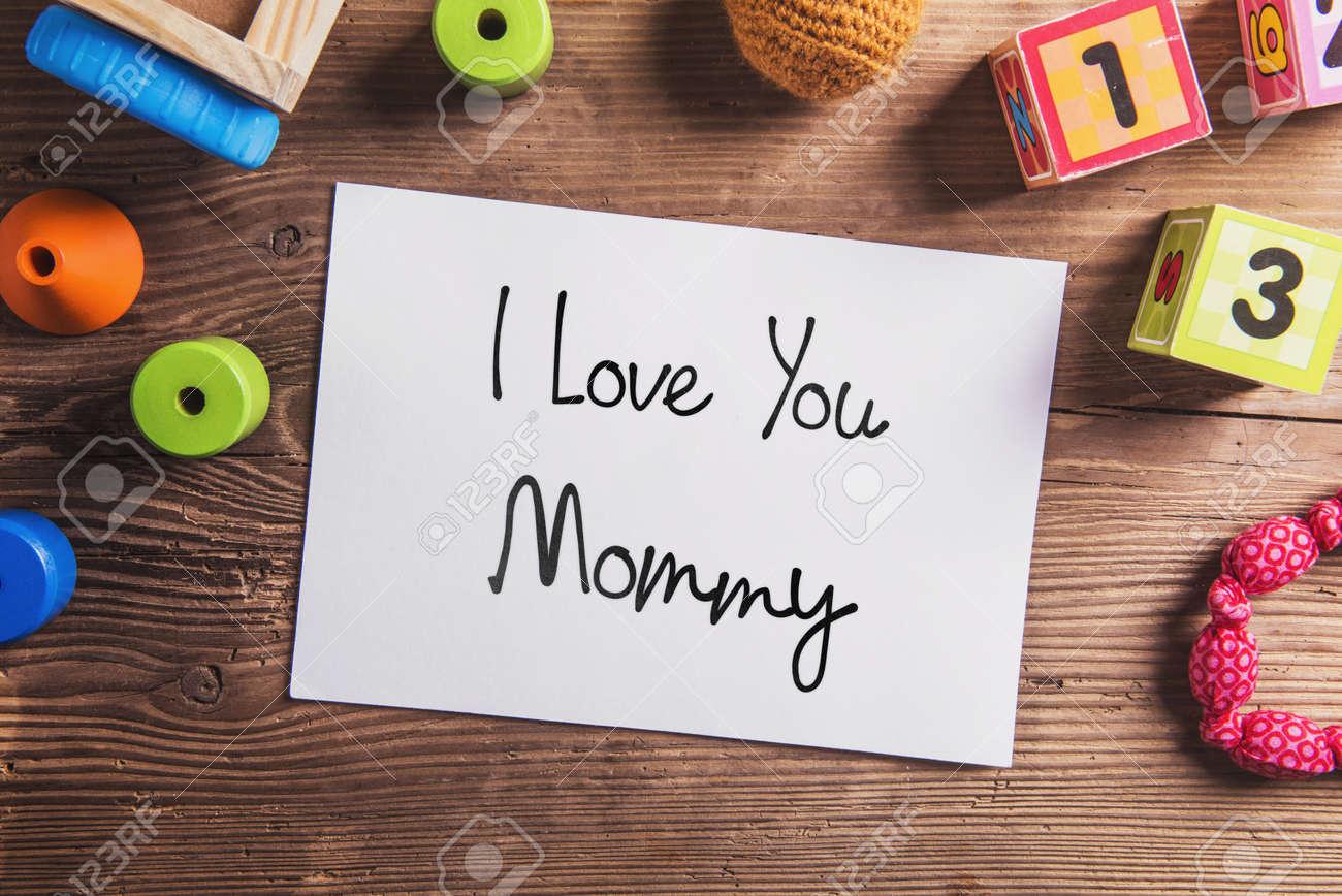 Te Amo Mami Señal. Composición Del Día De Madres. Los Juguetes ...