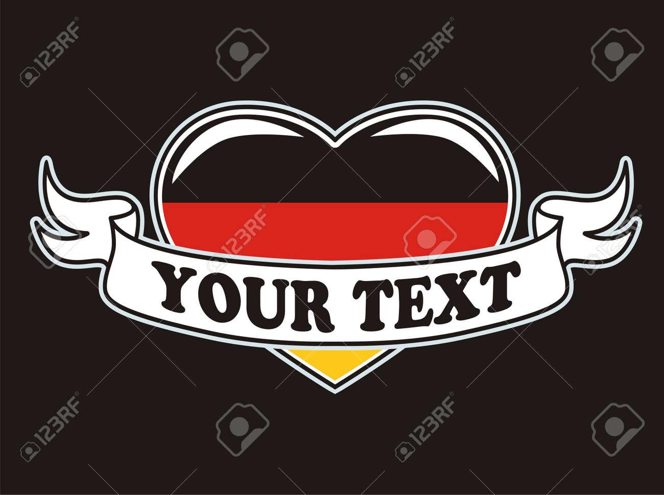Germany flag grunge white Stock Vector - 16941411