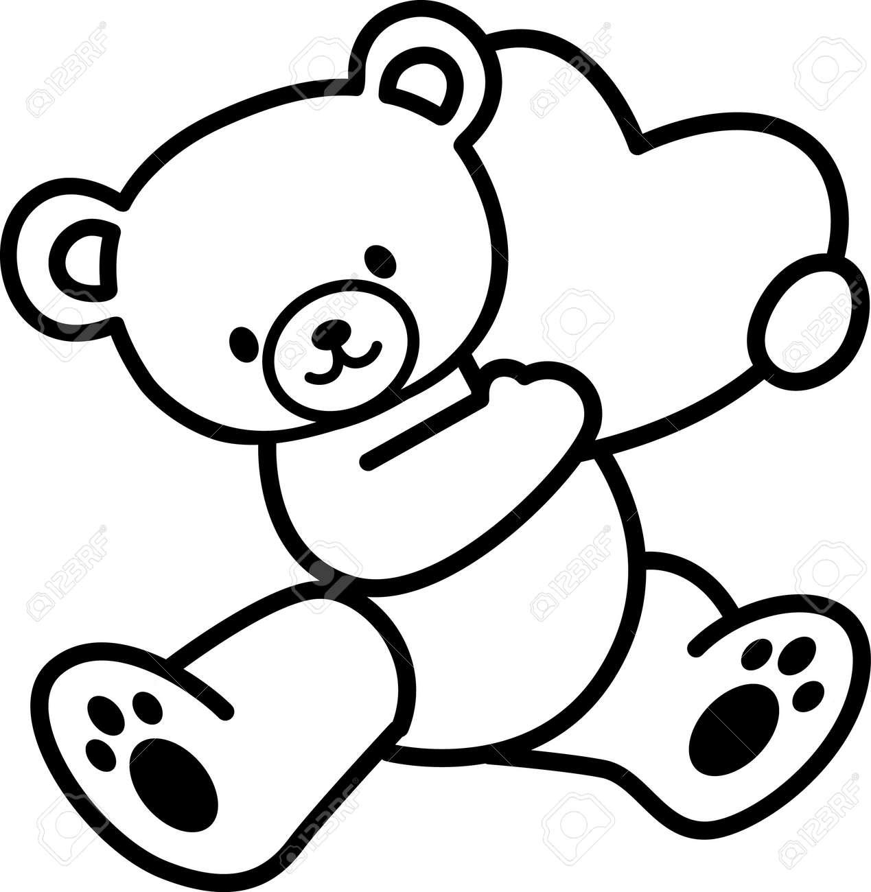 Uncategorized How To Draw A Cartoon Teddy Bear toys teddy bear royalty free cliparts vectors and stock vector 17456851