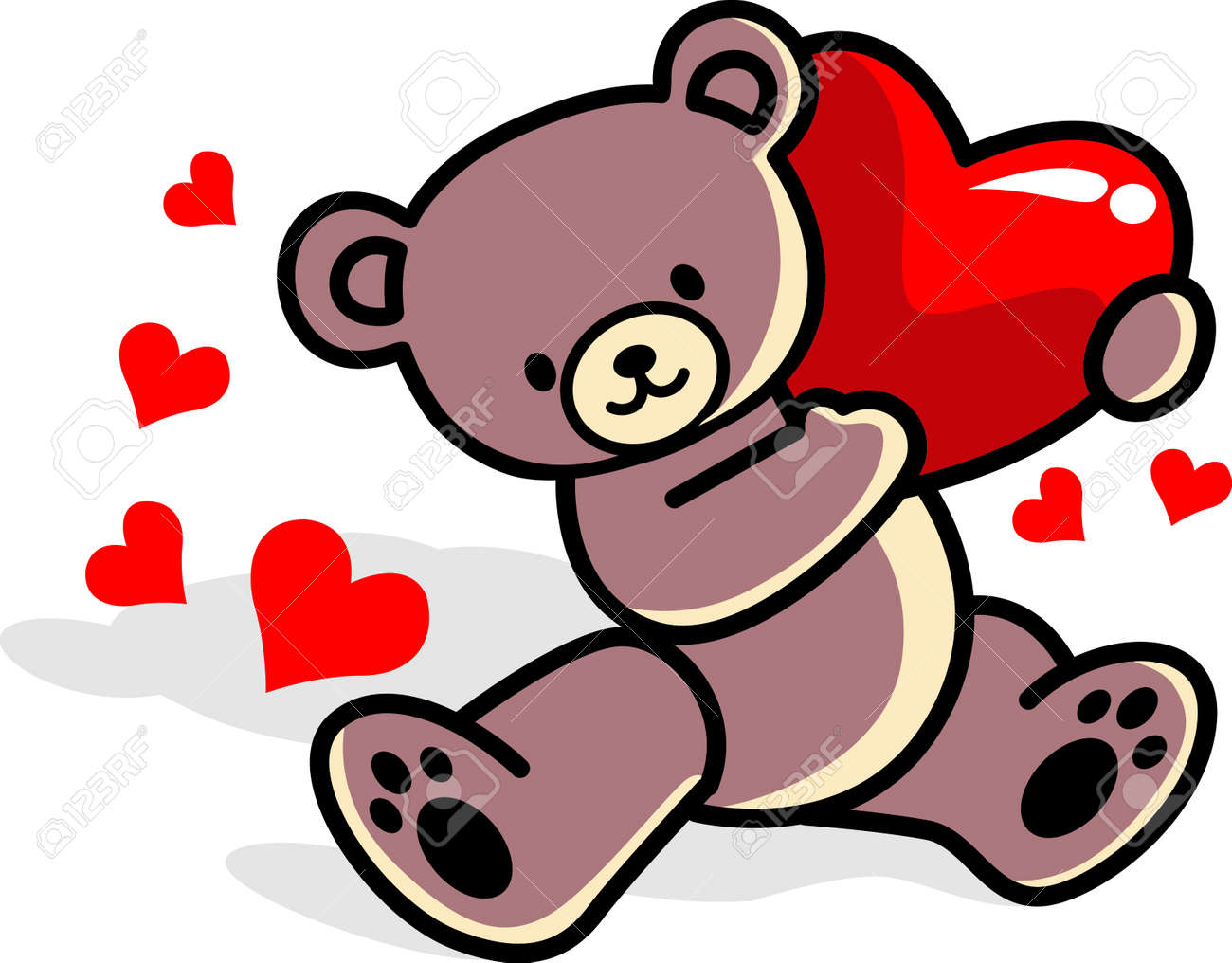 teddy bear with love royalty free cliparts vectors and stock