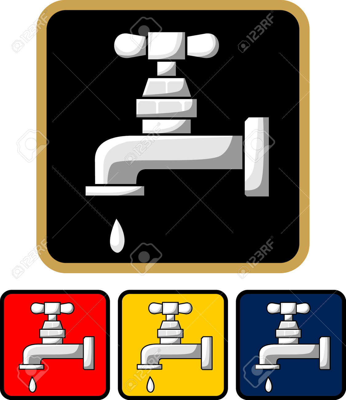 Water tap icon - illustration Stock Vector - 18869835