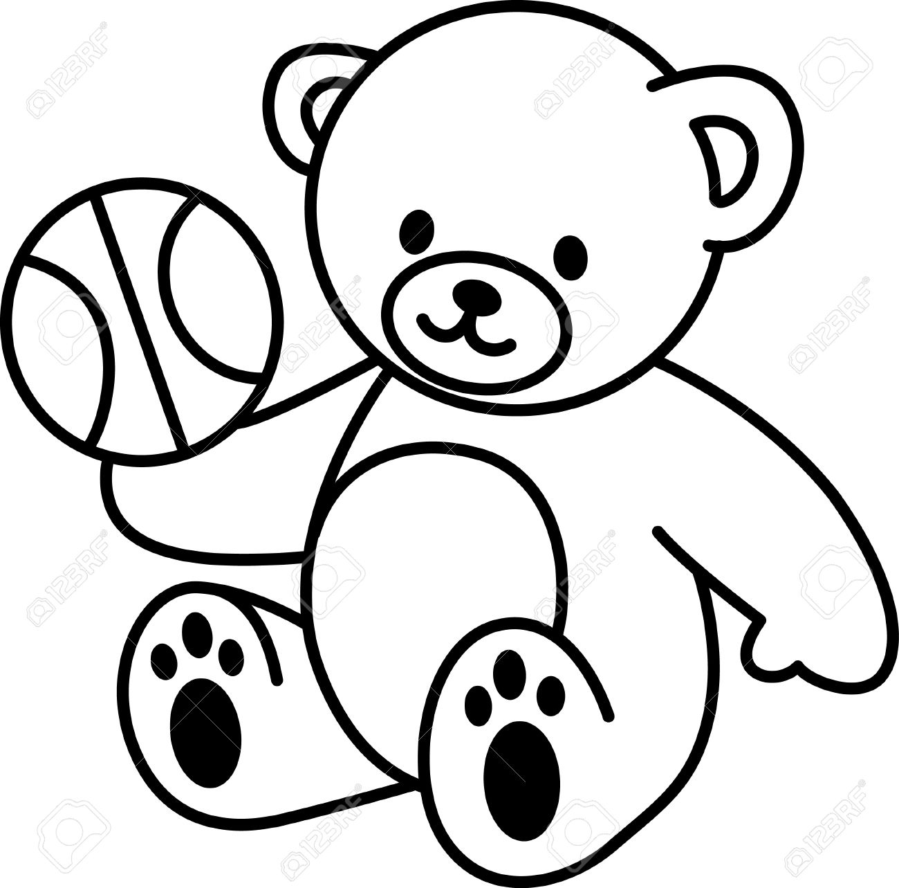 Uncategorized Cute Bears To Draw illustration of very cute teddy bear with basketbal royalty free stock vector 18936721