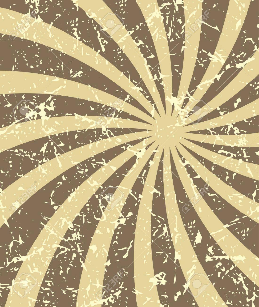 Retro vintage grunge hypnotic background Stock Vector - 19003715