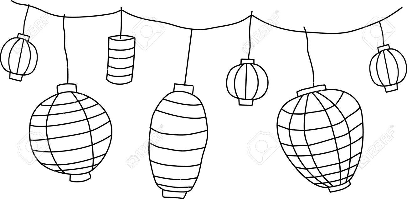 Big Traditional Chinese Lanterns Stock Vector