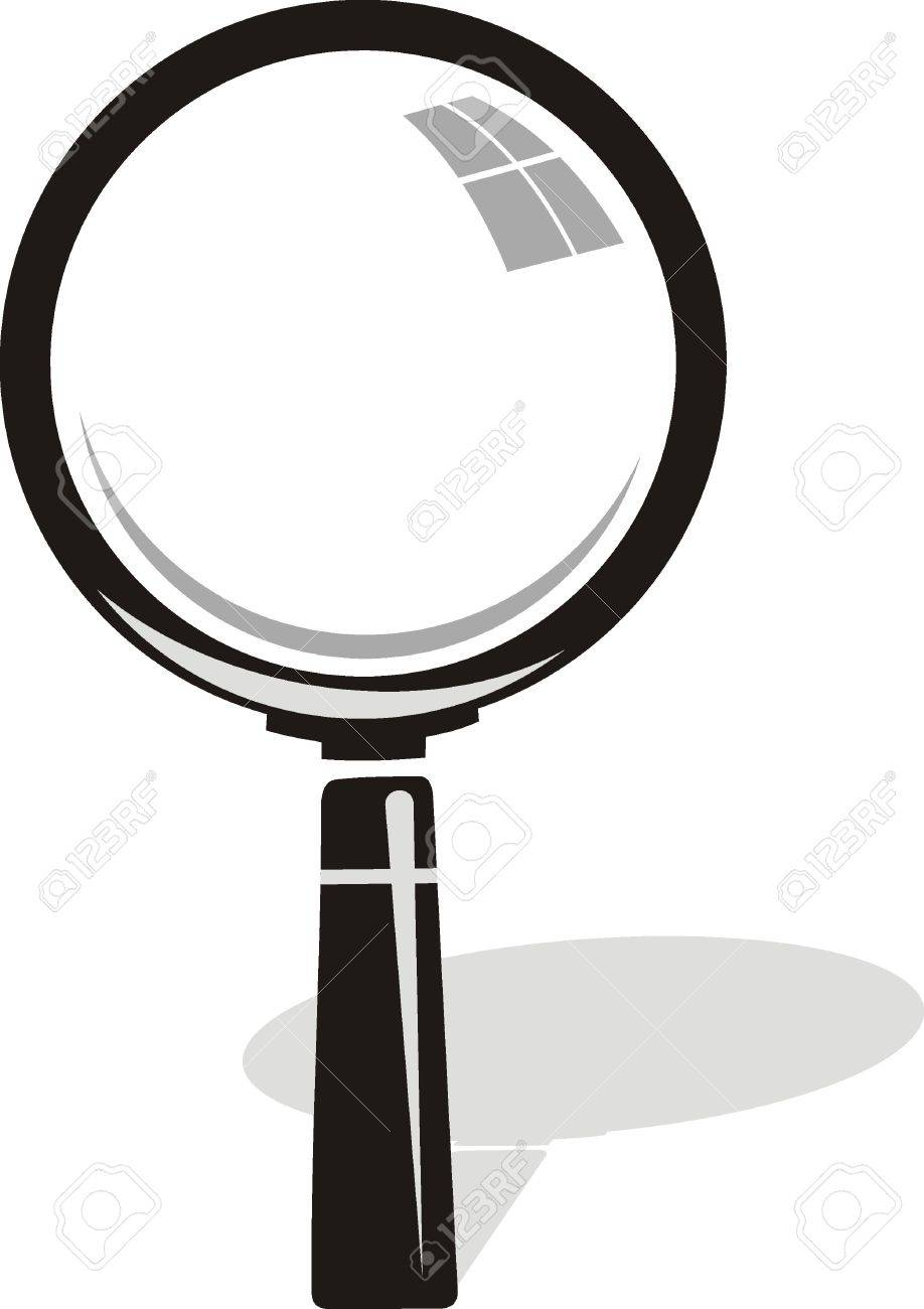 vector  Magnifying glass on background Stock Vector - 19096460
