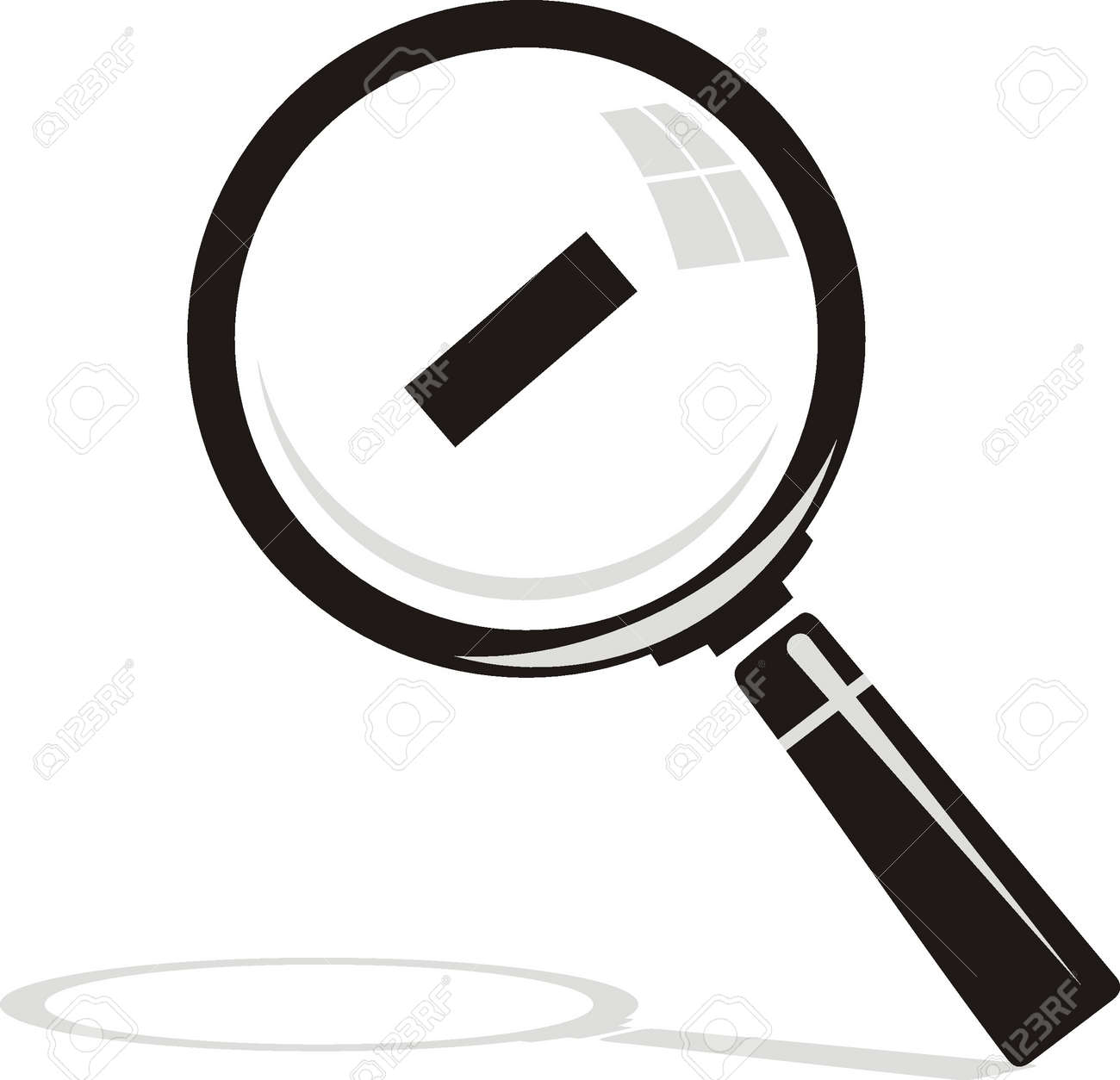 vector  Magnifying glass on background Stock Vector - 19096476